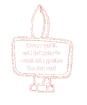 Over 96% of Britain's real ale pubs featured
